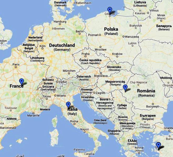 Cartina Italia Romania.Progetto Comenius Chant Europe